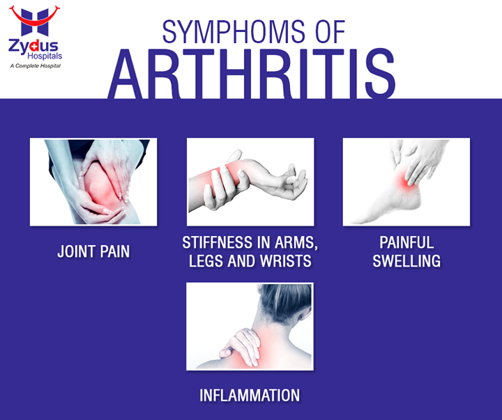 Have a look at the symptoms of arthritis to identify and understand the disease.  #Arthritis #ZydusHospitals #GoodHealth #Ahmedabad