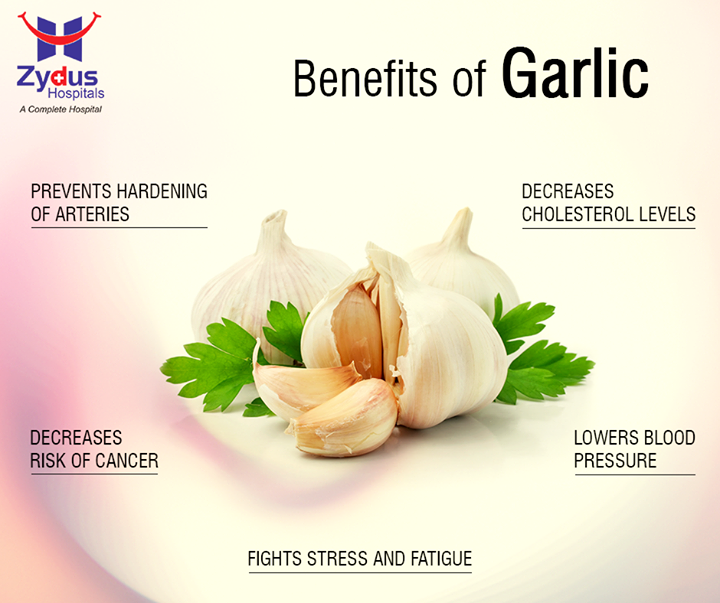 Garlic can be used to add flavour to just about any dish ranging from pulav to pasta! Did you know it can be used to treat a variety of health issues as well?  #ZydusHospitals #GoodHealth #Ahmedabad