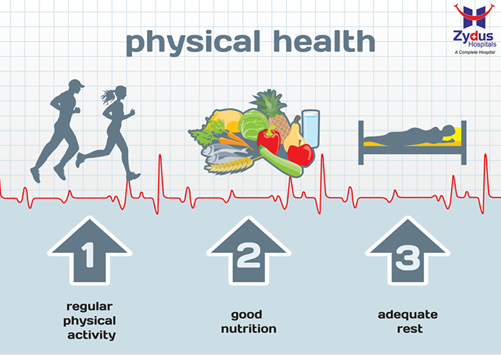 The key to a #healthyyou is #physicalactivity along with #goodnutrition & #adequaterest!  How do you keep #fit?  #SpreadingSmiles #ZydusHospitals #Ahmedabad #HealthisWealth