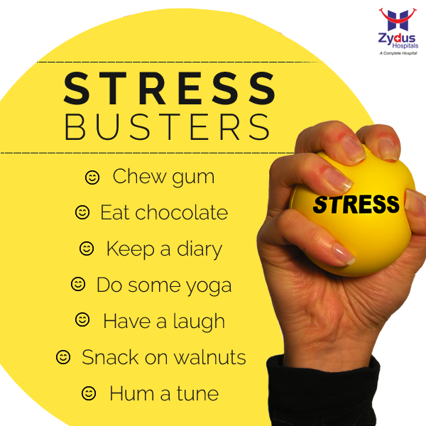 Feeling #stressed is part of modern life, but here are some wonderful ways to help you manage it. So next time you're stuck in a traffic jam or your work is getting too hectic, try these!  #ModernLife #HealthTips #StressBusters #ZydusHospital