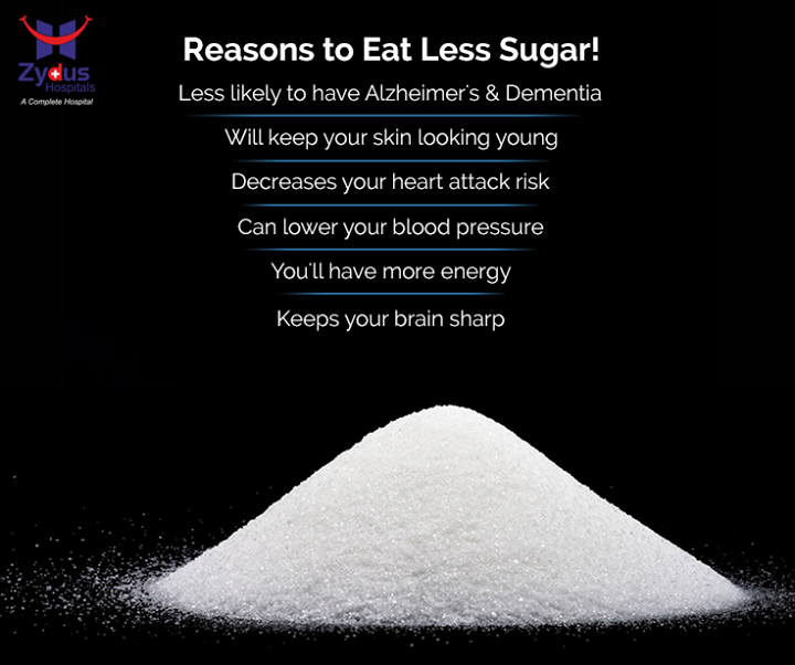 The harmful effects of sugar go way beyond empty calories and weight gain. Added sugar is so unhealthy that it is probably the single worst ingredient in the modern diet.   #GoodHealth #CutYourSugar #ZydusHospital #Ahmedabad