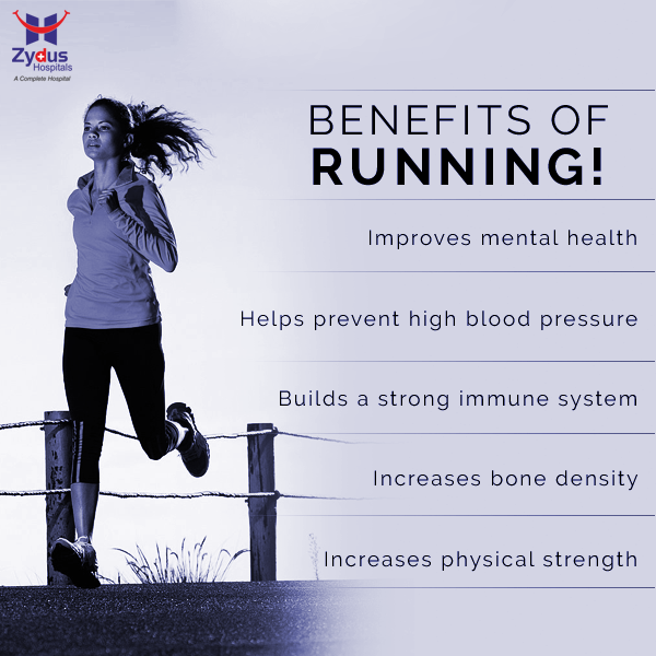 The benefits of vigorous physical activity like running are immense. Weight loss is an obvious result but there are other various benefits that many aren't aware of.  #GoodHealth #ZydusHospitals #Ahmedabad