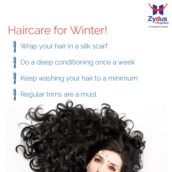 Now that the winter is upon us and the days are much colder, it's time to start thinking about ways to protect our hair from the winter damage.  #HairCare #GoodHealth #ZydusHospitals #Ahmedabad
