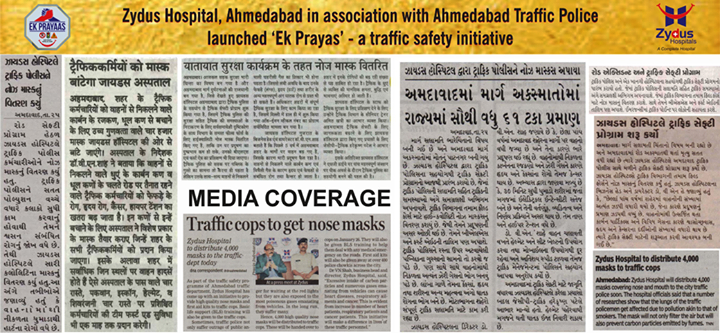 Zydus Hospitals in association with Ahmedabad Traffic Police launched