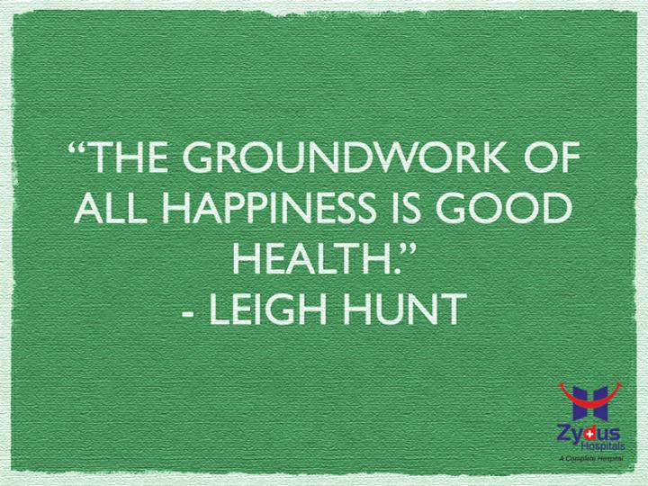 Don't you agree?  #HealthyYou #GoodHealth #ZydusHospitals