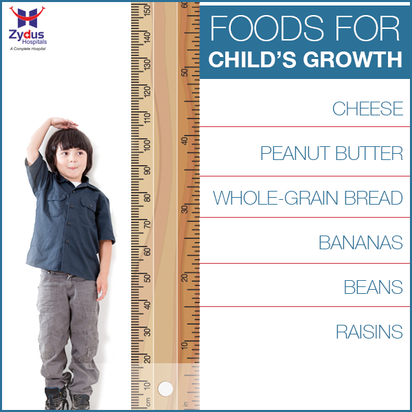 A growing kid needs a balanced diet full of nutrients, including vitamins and minerals. Here are some of the key food items every child's diet should consist of:  #KidsHealth #Nutrition #Diet #Food #ZydusHospitals #Ahmedabad