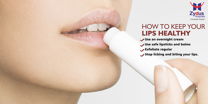 As you grow older, your lips start getting dry. Here are some tips to help you keep your lips soft and healthy.  #DailyCare #LipCare #Winters #ZydusHospitals #Ahmedabad