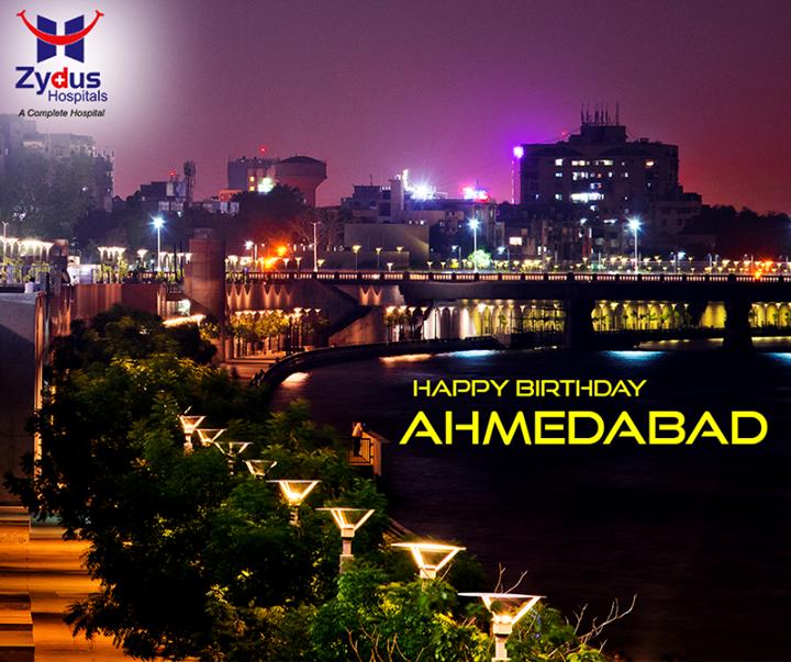 We salute the spirit of the city & its people on 605th Birthday of #Ahmedabad.  #HappyBirthdayAmdavad!