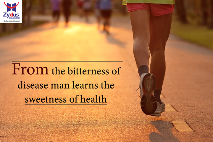 Let's leave materialistic assets aside, let's build good health!   #GoodHealth #StayHealthy #MotivationalMonday #ZydusHospitals #Ahmedabad