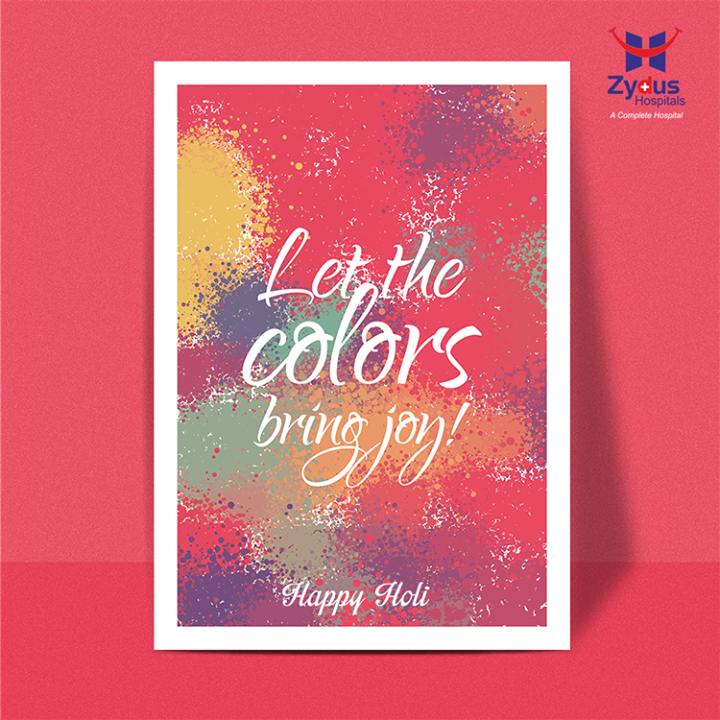 Wish you a joyous celebration in the colorful festival of Holi!  #HappyHoli #SafeHoli #ZydusHospitals #Ahmedabad