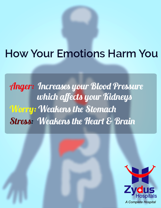 Did you Know Emotions have a very vital role with their effects on our body!   #DidyouKnow #Emotions #Health #ZydusHospitals #Ahmedabad