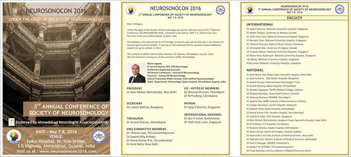 Neurosonocon 2016: 3rd Annual National Conference of Society Of Neurosonology!  #ZydusHospitals #Ahmedabad #GoodHealth
