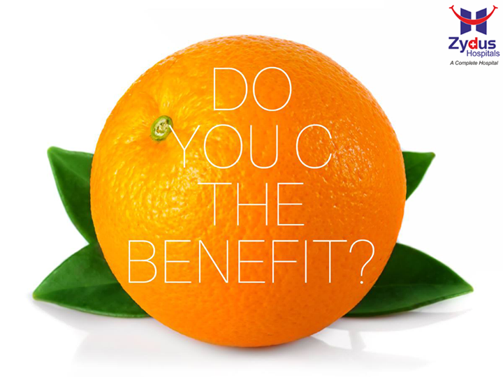 A single orange can fulfil 75% of your daily Vitamin C requirement.   #DidyouKnow #VitaminC #Orange #HealthBenefits #HealthCare #ZydusHospitals #Ahmedabad