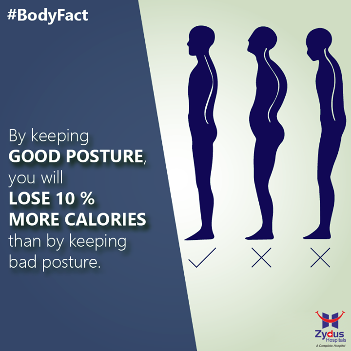 Sitting or standing in the right position or posture can help our bodies function properly. It puts the least amount of strain on us and helps us avoid chronic back, neck or shoulder pain that can result from the strain of bad positioning.  #GoodPosture #Benefits #DidyouKnow #HealthCare #ZydusHospital #Ahmedabad