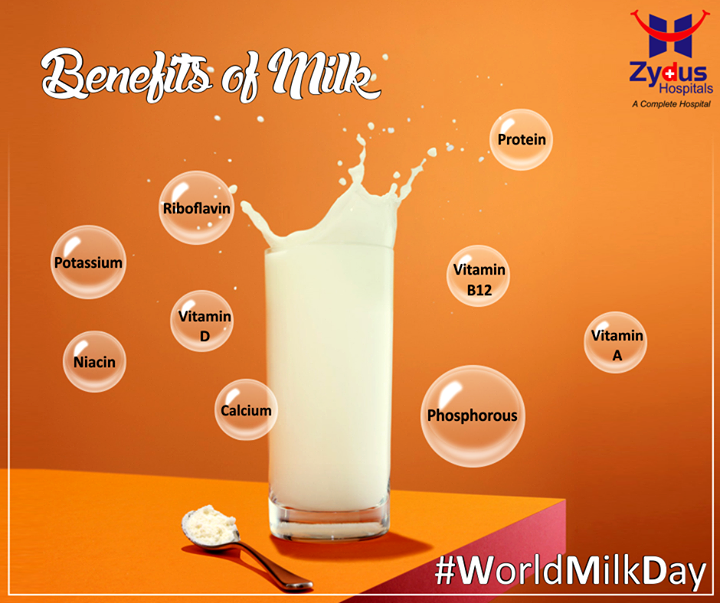 Rich in calcium & protein, milk has lot more to offer to nurture you with health every day.   #WorldMilkDay #ZydusCares #ZydusHospitals