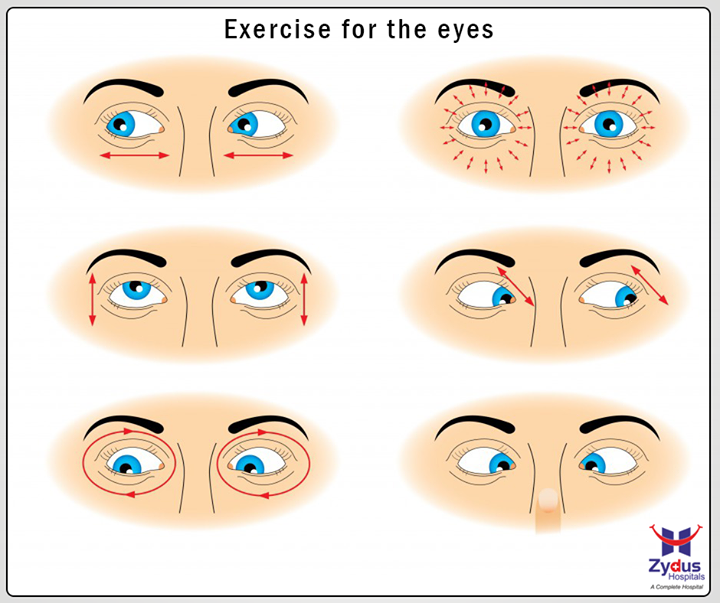 Stressed at work? Maybe it's time for a little eye exercise to relieve that strain.  #ZydusCares #ZydusHospitals #Ahmedabad