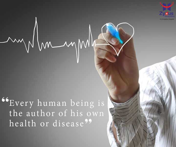 Your lifestyle – How you live, eat, emote, and think – determines your health. To prevent diseases, you may have to change how to live.  #HealthQuotes #HealthCare #MondayMotivation #ZydusHospital #Ahmedabad