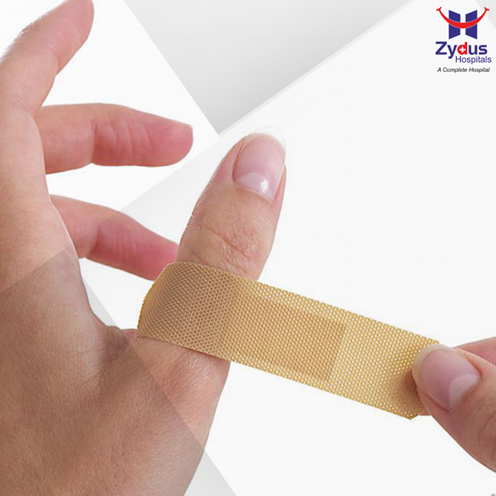 A bandage not only protects the wounded area from constantly rubbing against the clothing but also helps in keeping dirt & bacteria away. Always ensure that the bandage is removed in a slow motion. Ripping off the bandage too quickly can risk reopening the wound or peeling off the scab.  #HealthCare #ZydusHospitals #Ahmedabad #ZydusCares