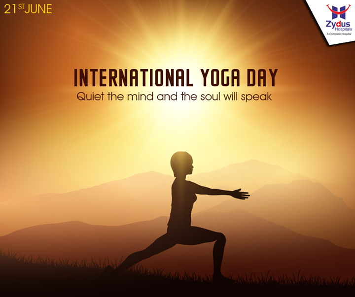 Stretch your body Meditate your mind Throw out the harsh And hug the Kind Feel Happy, Live Happy. Happy #Yogaday.  #InternationalYogaDay #YogaDay #ZydusHospitals #ZydusCares