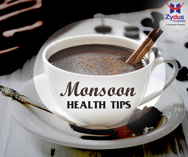 Hot drinks like coffee are comforting to drink when it's cold, but remember that too much caffeine lowers your level of body fluids. If you want something to warm your tummies, go for herbal teas that fight bacteria, which prevail during the cold weather. Examples are teas made from basil leaves, ginger, peppermint tea, and honey.  #Coffee #MonsoonHealthTips #ZydusHospitals #ZydusCares #HealthTips
