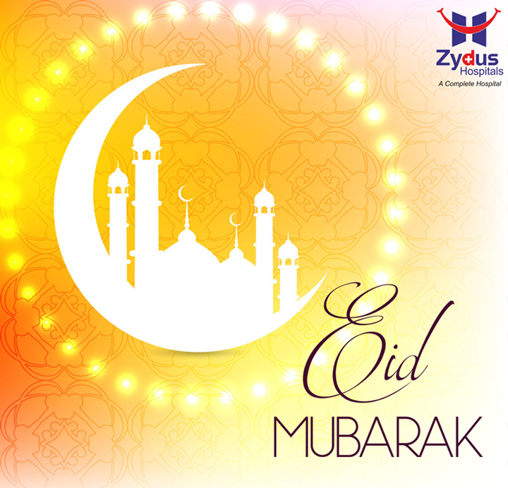 May this festival shower you with love,peace & goodness.   #EidMubarak #ZydusHospitals #Ahmedabad