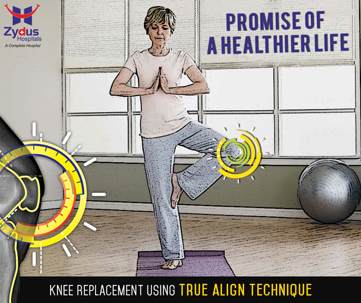 // The promise of a healthier life //   Zydus Hospitals presents the revolutionary knee replacement technique, #TrueAlign technology !  #ZydusHospitals #ZydusCares #KneeReplacement #Ahmedabad