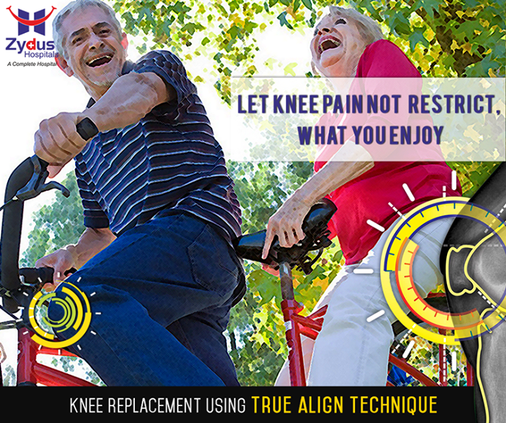 //Enjoy life as it comes //  Zydus Hospitals presents the revolutionary knee replacement technique, #TrueAlign technology !  To know more about the technique we follow, visit http://www.zydushospitals.com/joint-knee-replacement.html  #ZydusHospitals #ZydusCares #KneeReplacement #Ahmedabad