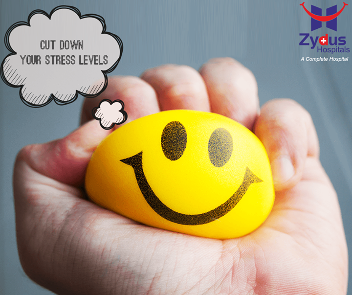 :: Cut down your stress levels :: Over 90% of diseases are caused or complicated by stress. A stressful relationship or a highly demanding job could be doing more than just wearing you down each day. It could also be increasing your chances of having a variety of serious medical conditions like depression, high blood pressure and heart disease.  #ZydusCares #ZydusHospitals #Ahmedabad