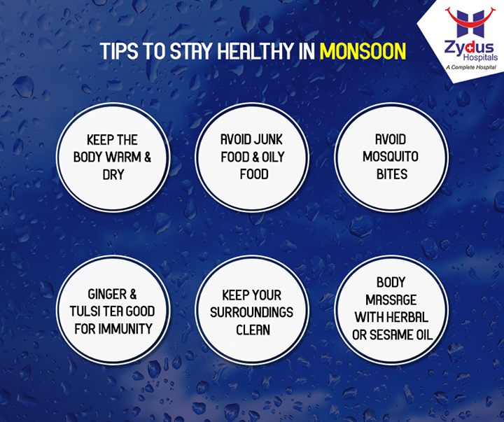 This #Monsoon season take good care of your health.  #HealthCare #ZydusHospitals #Ahmedabad #ZydusCares