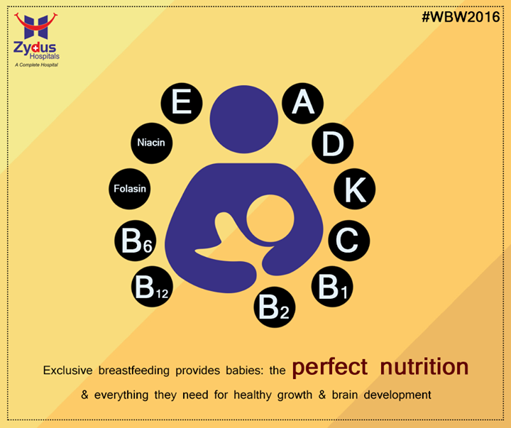 Breast milk contains antibodies that help your baby fight off viruses and bacteria!  #WorldBreastfeedingWeek #WBW2016 #ZydusCares #ZydusHospitals