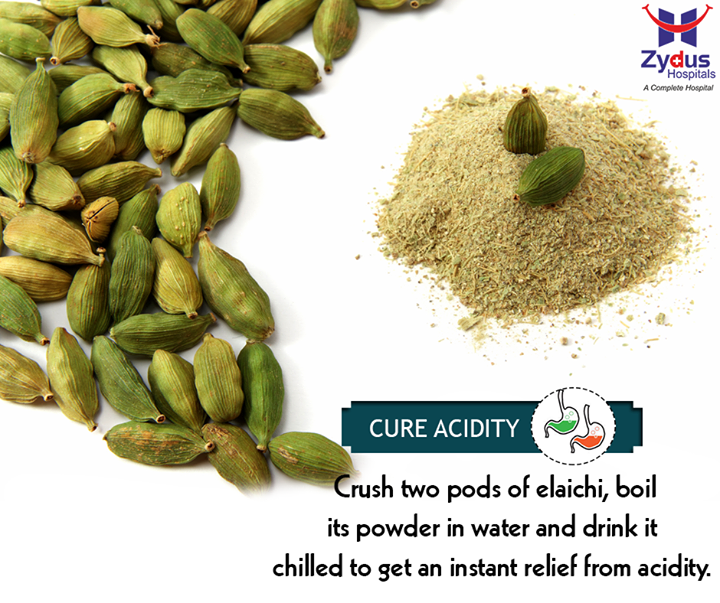 Do you face acidity on a regular basis? Include cardamom to your diet as cardamom helps in stimulation and helps in balancing these acids in cases of acidity, thus providing relief during heart burns.  #HealthCare #ZydusHospitals #Ahmedabad