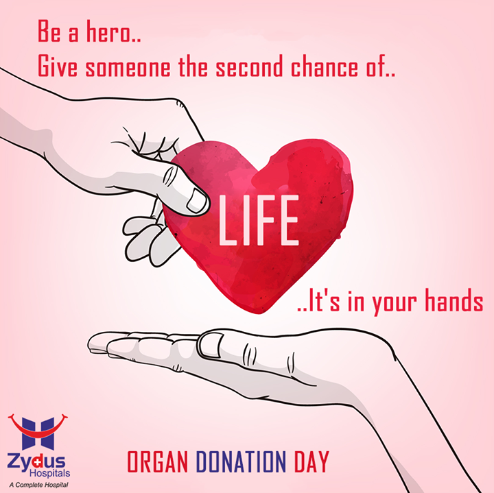 Be the #hero, donate an organ!   #OrganDonationDay #ZydusHospitals #Ahmedabad #ZydusCares