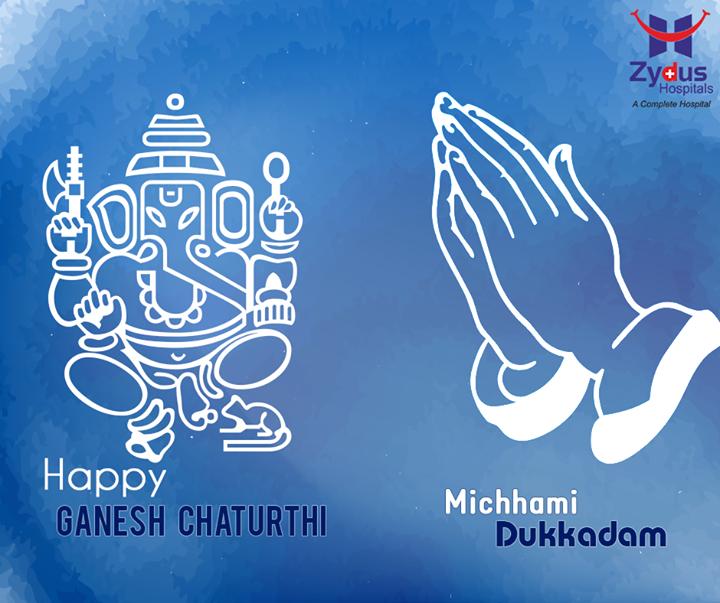 Festive wishes on the occasion of #GaneshChaturthi & #samvatsari from Zydus Hospitals !