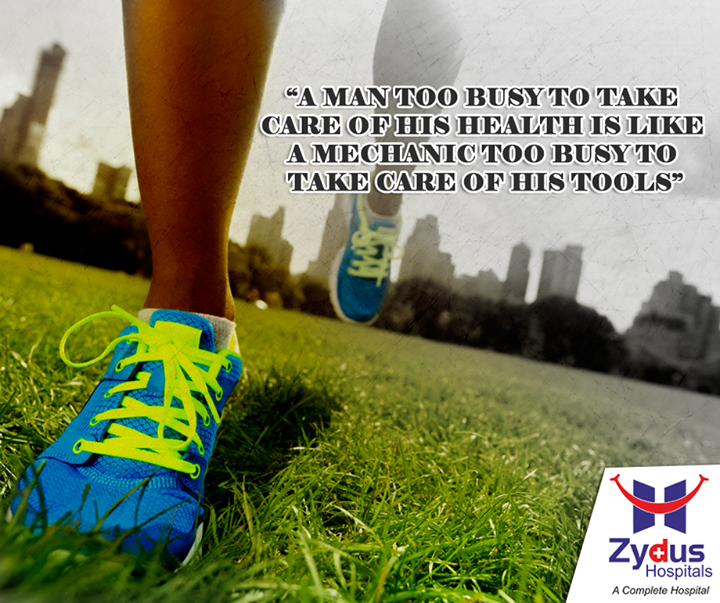 It is vital that you always make time for your health.  #HealthCare #MotivationalMonday #ZydusHospitals #Ahmedabad