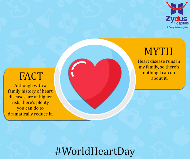 This #WorldHeartDay Zydus Hospitals helps you debunk some #heart myths & appeals to take care of your heart!  #ZydusCares #ZydusHospitals #Ahmedabad #HeartDay
