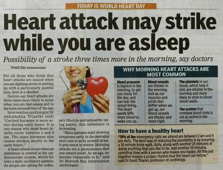 #DidYouKnow #HeartAttack #ZydusHospitals #Ahmedabad #IntheNews #WorldHeartDay