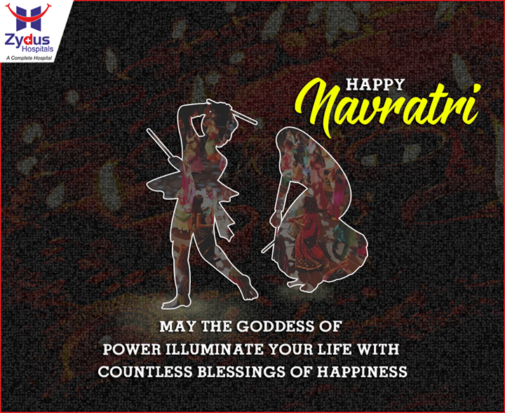 May this joyful festival greet you with #health and #happiness!  #NavratriWishes #ZydusHospitals #HappyNavratri #Ahmedabad #IndianFestivals