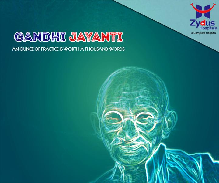 Let us remember the man whose vision guided our nation.  #GandhiJayanti #MahatmaGandhi #Bapu #ZydusHospitals #Ahmedabad