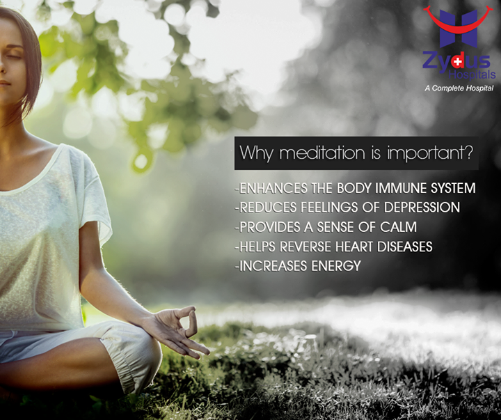 Here are a few reasons why you should find time to meditate every day.  #HealthCare #ZydusHospitals #Ahmedabad