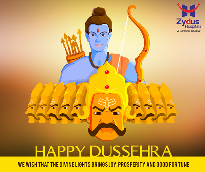 This Dussehra, commemorate the victory of good over evil by making healthy choices   #HappyDussehra #FestiveWishes  #ZydusHospitals #Ahmedabad