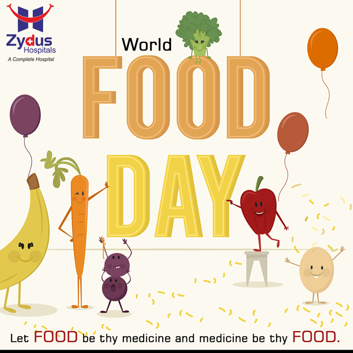 //Let food be thy medicine & medicine be thy food//  #WorldFoodDay #16thOctober #HealthCare #ZydusHospital #Ahmedabad