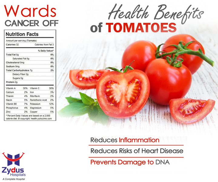 #Tomatoes are loaded with many, many #HealthBenefits. In fact, they are incredibly versatile for their wealth of nutrients and vitamins  #ZydusCares #HealthCare #ZydusHospital #Ahmedabad