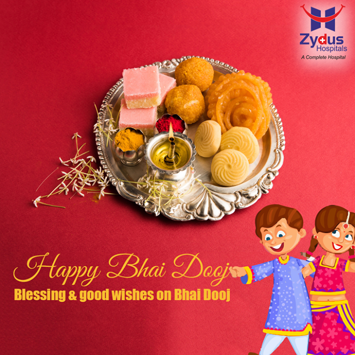 Blessing & good wishes on #BhaiDooj!  #HappyBhaiDooj #FestiveWishes #IndianFestivals #ZydusHospital #Ahmedabad