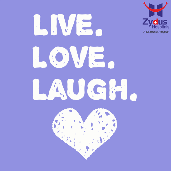 You only live once but if you do it right once is #Enough.  #QOTD #Love #Laugh #HealthCare #Live #ZydusHospitals #Ahmedabad