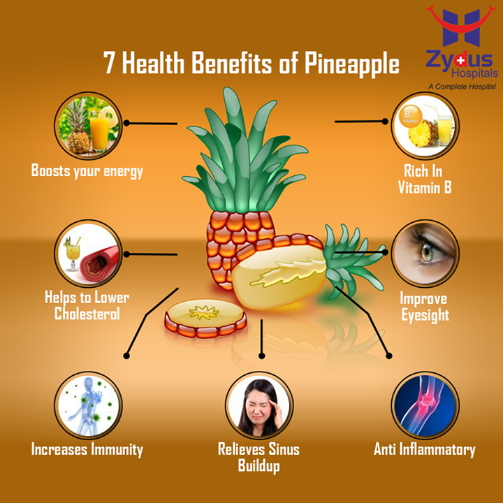 #Pineapple doesn't just taste good--it offers many health benefits as well.  #ZydusHospitals #ZydusCares #GoodHealth