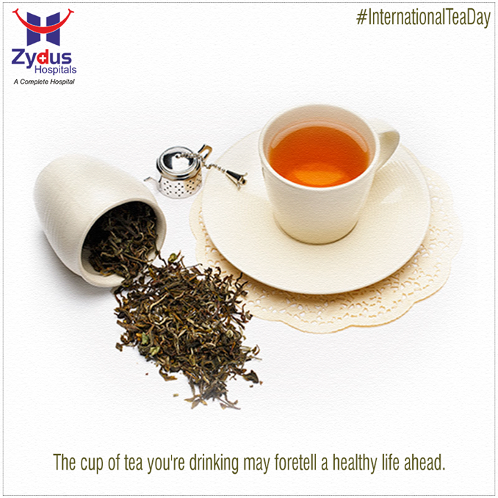 Today is #internationalteaday! Tea can fight against cancer, heart disease and diabetes so try enjoying yourself a cup of healthy tea!   #ZydusHospitals #ZydusCares #Ahmedabad #GoodHealth