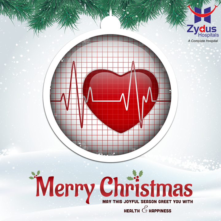 May this joyful season greet you with health and happiness.  Feel the cheer in the air!  #Christmas #ChristmasIsHere #Ahmedabad #ChristmasWishes #ZydusHospitals #MerryChristmas
