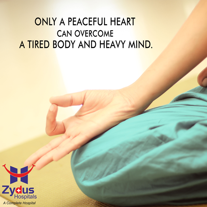 #Happiness can't be far behind a #grateful heart and a #peaceful mind!  #QOTD #HealthCare #ZydusHospitals #Ahmedabad