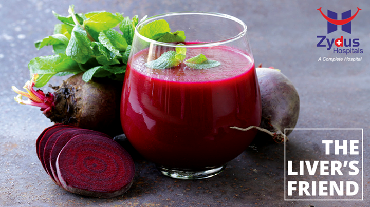 Beetroot Improves Liver Function by removing toxins from your body. Beetroot juice contains an antioxidant named glutathione that protects the liver from damage.  #ZydusCare #ZydusHospitals #Ahmedabad