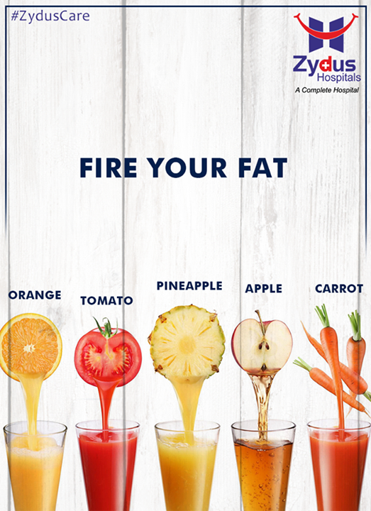 Juices have lots of micro-nutrients in them and are very low in calories. The best thing about juice diet is that it does not contain any fat. It is moreover rich in vitamins, minerals and enzymes. It acts as appetite suppressant and will thus help you lose weight.   #HealthTip #ZydusCares #ZydusHospitals #Ahmedabad